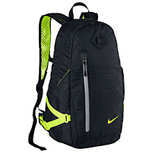 Buy Nike Vapor Lite Running Backpack, Black/Volt Online at johnlewis.com
