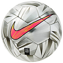 Buy Nike Neymar Prestige Football, Size 5, Chrome Online at johnlewis.com