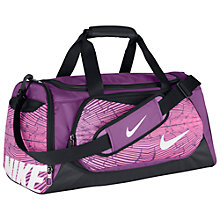 Buy Nike Ya TT Small Kids' Duffel Bag, Purple Online at johnlewis.com