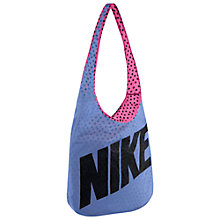 Buy Nike Graphic Print Reversible Tote Bag, Pink/Purple Online at johnlewis.com