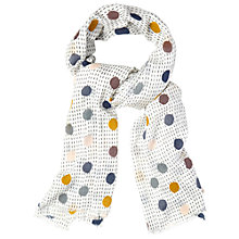 Buy White Stuff Spot Stitch Scarf, Multi Online at johnlewis.com