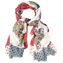 Buy White Stuff Longboat Cats Scarf, Multi Online at johnlewis.com