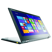 "Buy Lenovo Yoga 2 Convertible Ultrabook, Intel Core i3, 4GB RAM, 500GB + 8GB SSHD, 13.3"" Touch Screen, Silver Online at johnlewis.com"