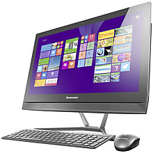 "Buy Lenovo C50 All-in-One Desktop PC, Intel Core i3, 8GB RAM, 1TB, 23"", Black Online at johnlewis.com"