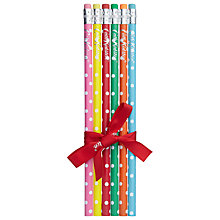 Buy Cath Kidston Mini Dot Pencils, Set of 6 Online at johnlewis.com