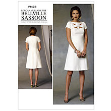 Buy Vogue Women's Bellville Sassoon Dress Sewing Pattern, 1423 Online at johnlewis.com