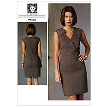 Buy Vogue Women's Dress Sewing Pattern, 1420 Online at johnlewis.com