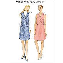 Buy Vogue Very Easy Women's Dress Sewing Pattern, 9049 Online at johnlewis.com