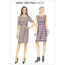 Buy Vogue Women's Dress Sewing Pattern, 9047 Online at johnlewis.com