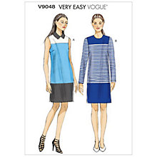 Buy Vogue Very Easy Women's Dress Sewing Pattern, 9048 Online at johnlewis.com