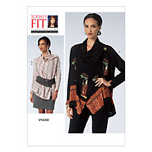 Buy Vogue Women's Top And Skirt Sewing Pattern, 1430 Online at johnlewis.com