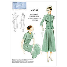 Buy Vogue Vintage Women's Jacket and Dress Sewing Pattern, 9052 Online at johnlewis.com