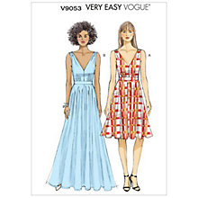 Buy Vogue Very Easy Women's Dress Sewing Pattern, 9053 Online at johnlewis.com