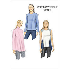 Buy Vogue Very Easy Women's Top Sewing Pattern, 9054 Online at johnlewis.com