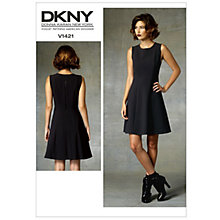 Buy Vogue Women's DKNY Dress Sewing Pattern, 1421 Online at johnlewis.com