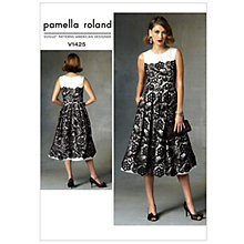 Buy Vogue Women's Pamella Roland Dress Sewing Pattern,1425 Online at johnlewis.com