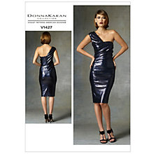 Buy Vogue Women's Donna Karan Collection Dress Sewing Pattern, 1427 Online at johnlewis.com