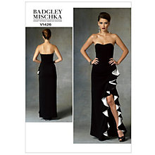Buy Vogue Women's Badgley Mischka Dress Sewing Pattern, 1426 Online at johnlewis.com