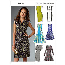 Buy Vogue Easy Options Women's Dress Sewing Pattern, 9050 Online at johnlewis.com
