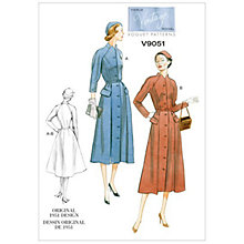Buy Vogue Vintage Women's Dress Sewing Pattern, 9051 Online at johnlewis.com