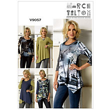 Buy Vogue Marcy Tilton Women's Top Sewing Pattern, 9057 Online at johnlewis.com