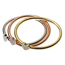 Buy Adele Marie Heart Charm Bangles, Multi Online at johnlewis.com