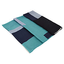 Buy Viyella Colour Block Scarf, Jade Online at johnlewis.com