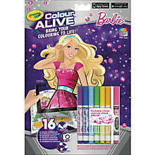 Buy Crayola Colour Alive Barbie Online at johnlewis.com
