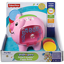 Buy Fisher-Price Laugh & Learn Smart Stage Piggy Bank Online at johnlewis.com