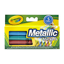 Buy Crayola Metallic Markers, Pack of 5 Online at johnlewis.com