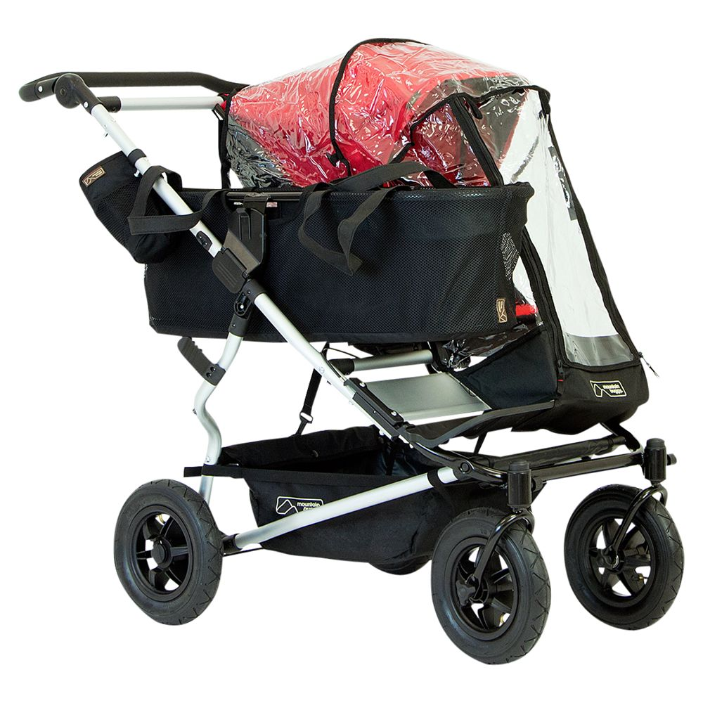 Mountain Buggy Mountain Buggy Duet Single Pushchair Storm Cover, Black
