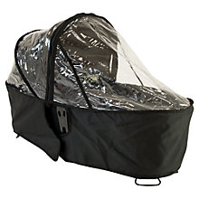 Buy Mountain Buggy Duet Carrycot Plus Single Storm Cover, Black Online at johnlewis.com