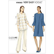 Buy Vogue Very Easy Women's Tunic, Dress and Trousers Sewing Pattern, 9062 Online at johnlewis.com