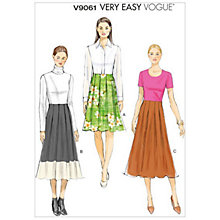 Buy Vogue Very Easy Women's Skirt Sewing Pattern, 9061 Online at johnlewis.com