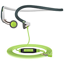 Buy Sennheiser PMX686G In-Ear Sports Headphones with Neckband, Green/Grey Online at johnlewis.com