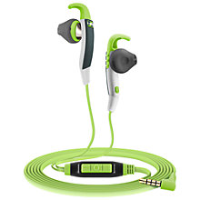 Buy Sennheiser MX686G In-Ear Sports Headphones, Green/Grey Online at johnlewis.com
