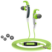 Buy Sennheiser CX686G In-Ear Canal Sports Headphones, Green/Grey Online at johnlewis.com