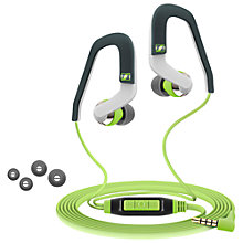 Buy Sennheiser OCX686G In-Ear Canal Sports Headphones with Mic/Remote, Green/Grey Online at johnlewis.com