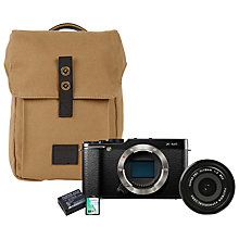 "Buy Fujifilm X-M1 Compact System Camera Starter Kit with XF 18mm f/2.0 R Pancake Lens, Camera Bag, Additional Battery & 16GB Memory Card, HD 1080p, 16.3MP, Wi-Fi, 3"" LCD Screen Online at johnlewis.com"