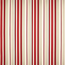 Buy John Lewis Kaplan Stripe Curtain, Cranberry Online at johnlewis.com