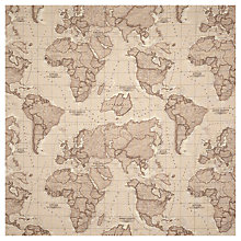 Buy John Lewis World Map Curtain, Mocha Online at johnlewis.com