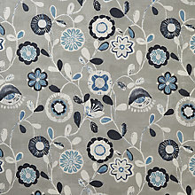 Buy John Lewis Carla Curtain, Blue Online at johnlewis.com