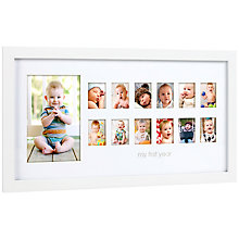 Buy Pearhead 12 Month Picture Frame, White Online at johnlewis.com