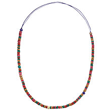 Buy One Button Bead Resin Long Necklace Online at johnlewis.com
