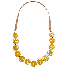 Buy One Button Long Round Disc Necklace Online at johnlewis.com