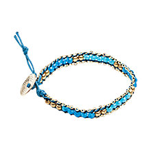 Buy One Button Glass Bead Friendship Bracelet, Blue Online at johnlewis.com