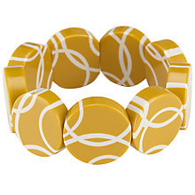 Buy One Button Flat Round Disc Bracelet Online at johnlewis.com