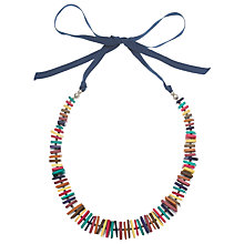 Buy One Button Wooden Shapes Necklace, Multi Online at johnlewis.com