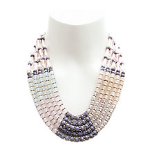 Buy One Button 5 Layer Glass Beads Necklace, Pink/Multi Online at johnlewis.com