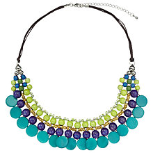 Buy One Button Bead And Disc Collar Necklace, Turquoise Online at johnlewis.com